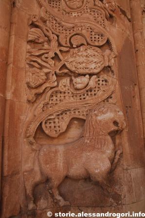 Dogubayazit Ishak-pasa Sarayi particolare portale interno 2